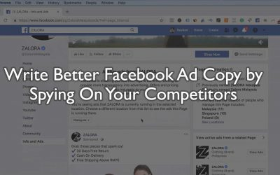 Write Better Facebook Ad Copy by Spying On Your Competitors